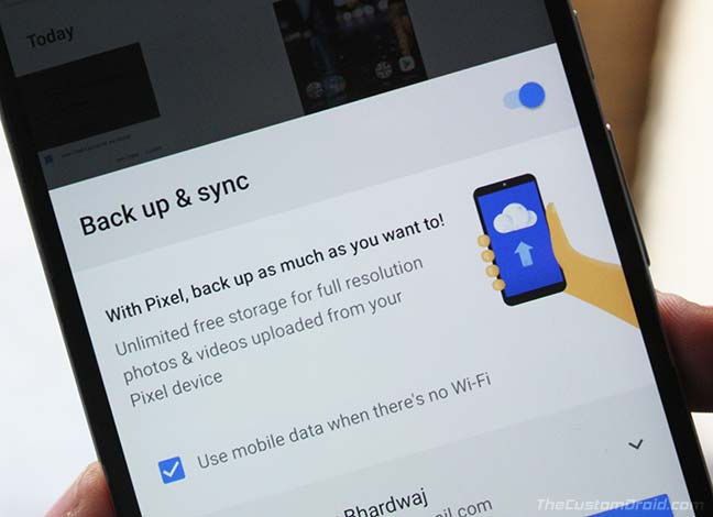 Backup Your Files Before Flashing Android P