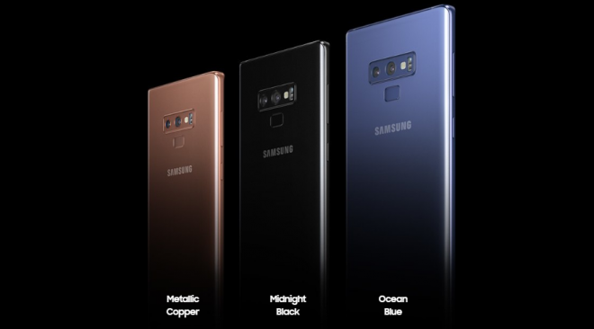 Samsung Note 9 Colour Variants
