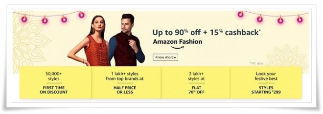 Amazon Sale Fashion Wear Deals And Discount Offer - Amazon Republic Day Sale 2019 - 20th to 23rd January 2019