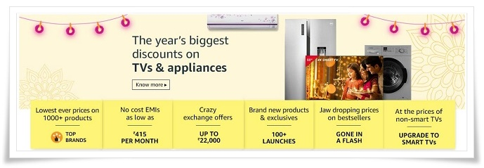 Amazon Sale LED TV Deals And Discount Offer - Amazon Republic Day Sale 2019 - 20th to 23rd December 2019