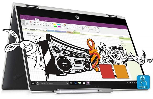 HP Pavilion X360 Intel Core I3 8th Gen 14-Inch Laptop - best 2 in 1 laptop under 50000