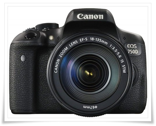 Canon EOS 750D 24.2MP Digital SLR Camera - best canon dslr under 50000