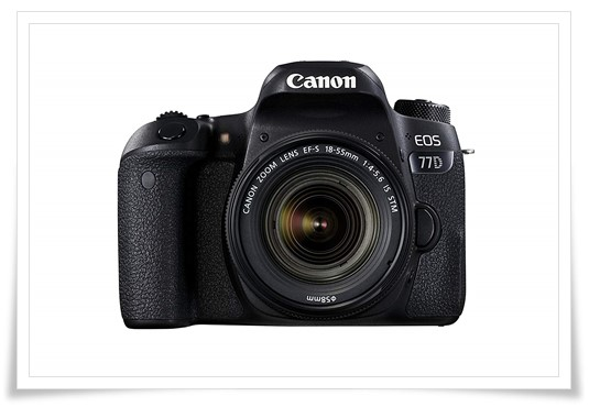 Canon EOS 77D 24.2MP Digital SLR Camera + 18-55 is STM Lens - best canon camera under 70000