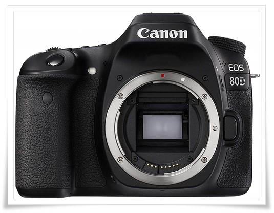 Canon EOS 80D 24.2MP Digital SLR Camera - best dslr camera under 70000 rupees