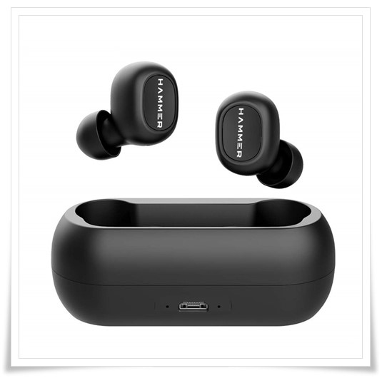 HAMMER Solo Truly Twin Wireless Bluetooth V5.0 Earbuds with Mic - best earphones under 5000, best wireless earphones under 5000, best bluetooth earphones under 5000