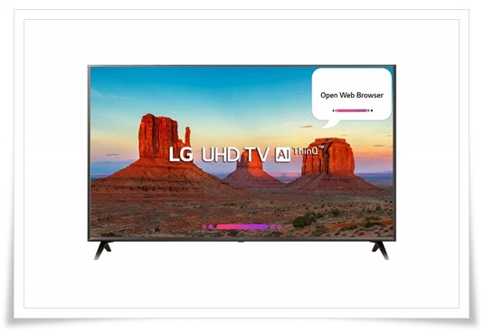 LG 43 inches 43UK6560PTC 4K LED Smart TV - best 4k smart tv under 60000