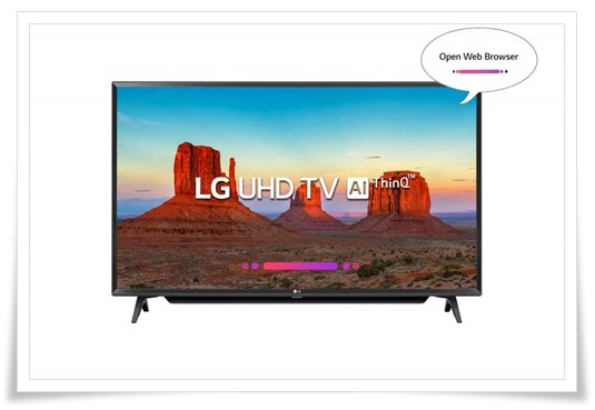LG 43 inches 43UK6780PTE 4K UHD LED Smart TV - best TV under 70k