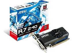 MSI AMD Radeon R7 240 2GB DDR3 Graphic Card - best graphics card under 5000, best graphics card under 5000 rs 2018, best gaming graphics card under 5000