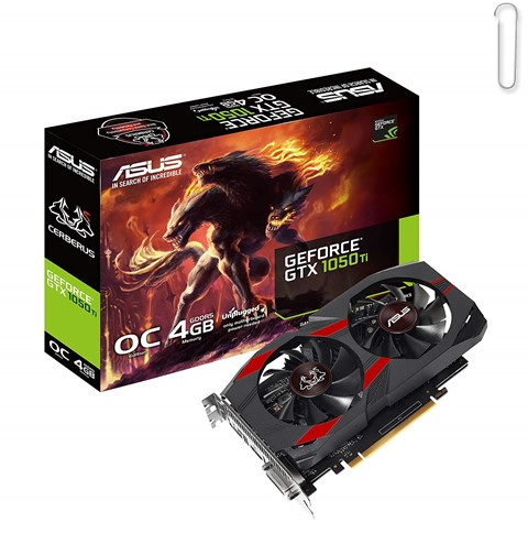 ASUS Cerberus GeForce GTX 1050 Ti 4GB OC Edition GDDR5 Gaming Graphics Card - best graphics card under 20000, best graphics card under 20000 2020, best graphics card under rs 20000