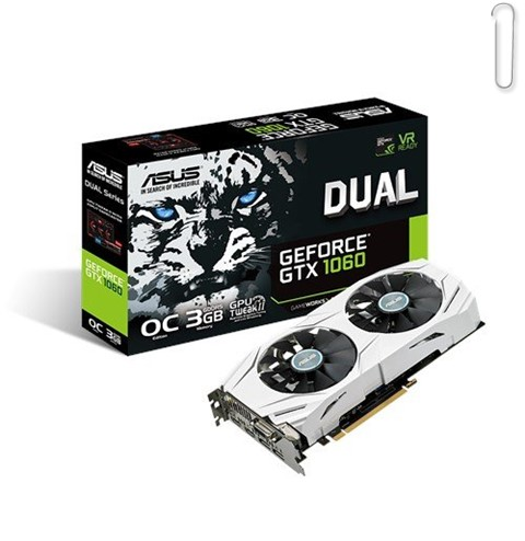 ASUS GeForce GTX 1060 3GB Dual-Fan OC Edition Graphics Card - best graphics card under 20000, best graphics card under 20000 2019, best graphics card under rs 20000