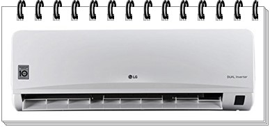 LG 1.5 Ton 3 Star Inverter Split AC - JS-Q18YUXA - best ac under 40000, best 1.5 ton split ac under 40000, best split ac under 40000
