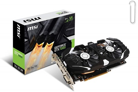 MSI Geforce GTX 1060 3GB GDDR5 VR Ready Graphics Card - best graphics card under 20000, best graphics card under 20000 2019, best graphics card under rs 20000