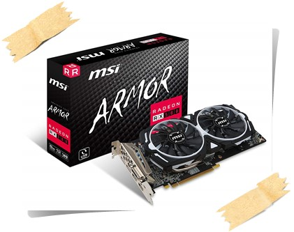 MSI Radeon RX 580 Armor OC 8GB VR Ready Graphics Card - best graphics card under 30000, best graphics card under 30000 2019