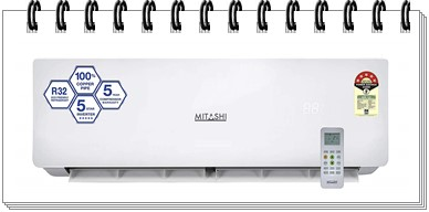 Mitashi 1.0 Ton 5 Star Inverter Split AC - MiSAC105INv35 - best ac under 30000 2019, best split ac under 30000, best 1.5 ton split ac under 30000