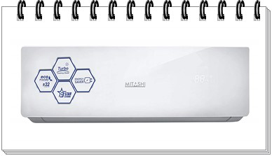 Mitashi 1.5 Ton 3 Star Split AC - MiSAC153Pv35 - best ac under 25000, best split ac under 25000, best window ac under 25000