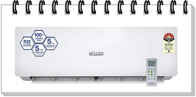 Mitashi 1.5 Ton 5 Star Inverter Split AC - MiSAC155INv35 - best ac under 35000, best 1.5 ton split ac under 35000, best split ac under 35000