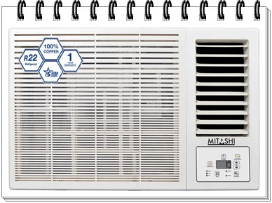 Mitashi 1.5 Ton 5 Star Window AC - MiWAC155v35 - best ac under 25000, best split ac under 25000, best window ac under 25000