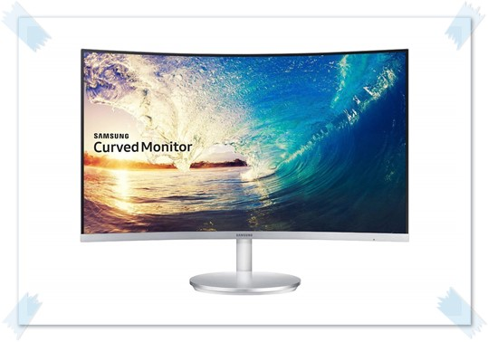 Samsung 27-Inch Curved Bezel Less LED Monitor LC27F591FDWXXL - best monitor under 20000, best gaming monitor under 20000, best 27 inch monitor under 20000
