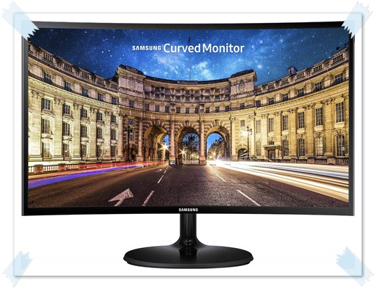 Samsung 27 inch LC27F390FHWXXL Curved LED Computer Monitor - best monitor under 15000, best gaming monitor under 15000, best 27 inch monitor under 15000, best monitor under 15k