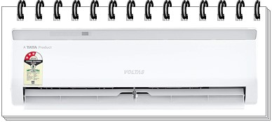 Voltas 1 Ton 3 Star Split AC - 123 CZA - best ac under 30000 2019, best split ac under 30000, best 1.5 ton split ac under 30000