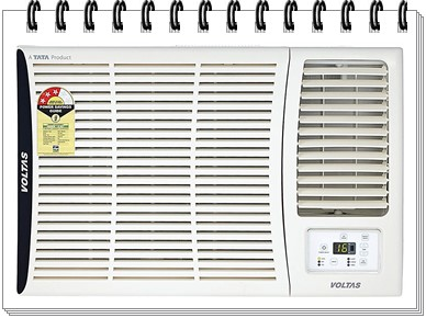 Voltas 1.5 Ton 3 Star Window AC - 183 DZA - best ac under 25000, best split ac under 25000, best window ac under 25000