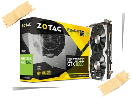 Zotac Amp Edition GeForce GTX 1060 6GB DDR5 PCI-e Graphics Card - best graphics card under 25000, best graphics card under 25000 rs 2019