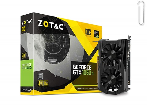 Zotac GeForce GTX 1050 Ti OC Edition ZT-P10510B-10L 4GB PCI Express Graphics Card - best graphics card under 20000, best graphics card under 20000 2019, best graphics card under rs 20000