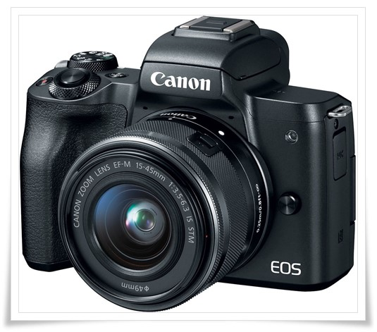 Canon EOS M50 24.1MP Mirrorless Camera - best dslr under 50000