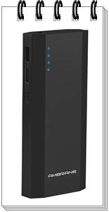 Ambrane P-1111 10000mAH Power Bank (Black)