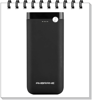 Ambrane PP-20 20000mAH Lithium Polymer Power Bank (Black)