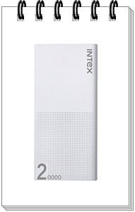 Intex IT-PBA 20K Poly 20000mAH Lithium Polymer Power Bank (White)