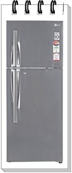 LG 260 L 3 Star GL-I292RPZL Frost Free Double Door Refrigerator