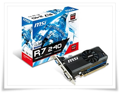 MSI AMD Radeon R7 240 2GB DDR3 Graphic Card