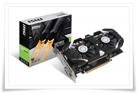 MSI GeForce GTX 1050 TI 4GT OC 4GB Graphics Card