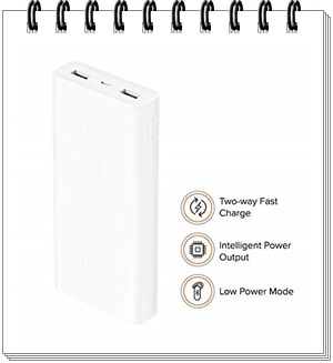 Mi 20000mAH Li-Polymer Power Bank 2i (White)