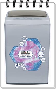 Mitashi 5.8 kg Fully Automatic Top Loading Washing Machine