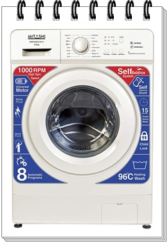 Mitashi 6 kg Fully-Automatic Front Loading Washing Machine
