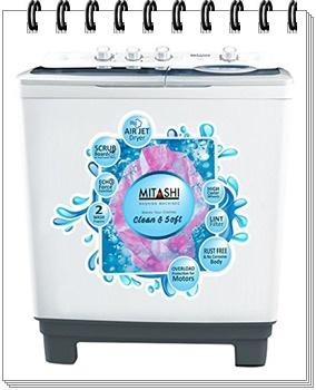 Mitashi 8.5 Kg Semi-automatic Top-loading Washing Machine