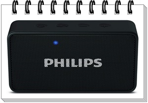 Philips BT64B Portable Bluetooth Speakers (Black) - best bluetooth speakers in india under 2000, best bluetooth speaker under 2000, best bluetooth speakers under 2000 2020