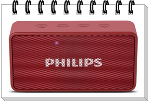 Philips BT64R Portable Bluetooth Speakers (Red) - best bluetooth speakers in india under 2000, best bluetooth speaker under 2000, best bluetooth speakers under 2000 2020