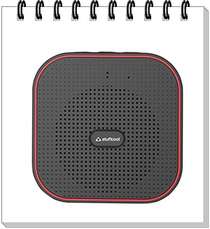 Stuffcool Monk Portable Wireless Bluetooth Speaker (Black and Red)