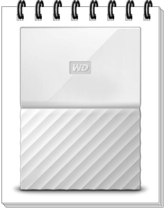 WD My Passport 4TB Portable External Hard Drive White