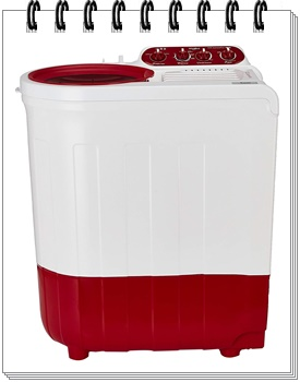 Whirlpool 7 kg Semi-Automatic Top Loading Washing Machine Red
