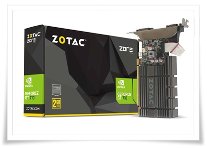 Zotac GeForce GT 710 2GB DDR5 Zone Edition Graphics Card