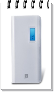 iBall PB10107 10000mAH Lithium Polymer Power Bank (White-Grey)