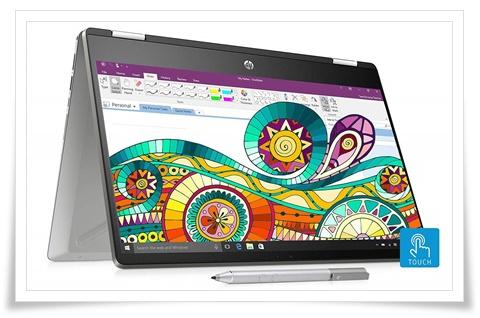 HP Pavilion X360 Core I3 8th Gen 14-Inch Touchscreen14-DH0101TU Laptop - best laptop under 50000