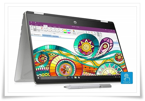 HP Pavilion X360 14-dh1011TU Core I5 10th Gen 14-Inch FHD Touchscreen 2-In-1 Alexa Enabled Laptop