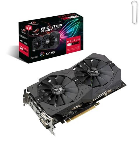 ASUS ROG Strix Radeon RX570 OC Edition 8GB GDDR5 256-bit Graphics Card - best graphics card under 20000, best graphics card under 20000 2020, best graphics card under rs 20000