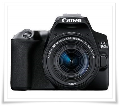 Canon EOS 200D II 24.1MP Digital SLR Camera + EF-S 18-55mm is STM Lens + EF-S 55-250mm is STM Lens - best dslr under 60000, best dslr camera under 60000, best dslr camera under 60000 in 2020