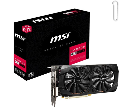 MSI Radeon RX 570 8GT OC Graphics Card - best graphics card under 20000, best graphics card under 20000 2021, best graphics card under rs 20000